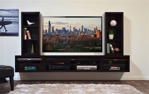 Media Wall Shelf by Furniture Flat Tv Wooden Media Cabinet With