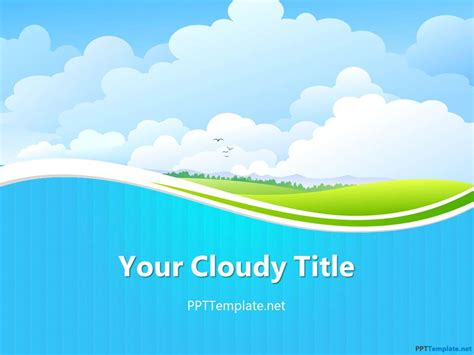 Template Of Powerpoint Presentation free sky ppt template