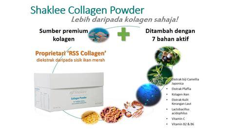 Collagen Di Pasaran kadar penyerapan collagen shaklee jauh lebih cepat dan