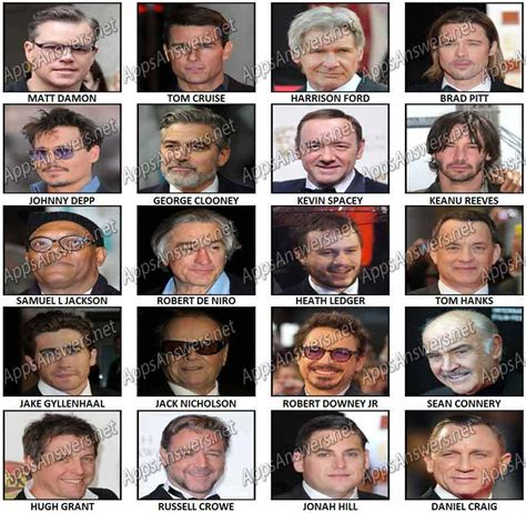 film actor quiz 100 pics actors answers apps answers net