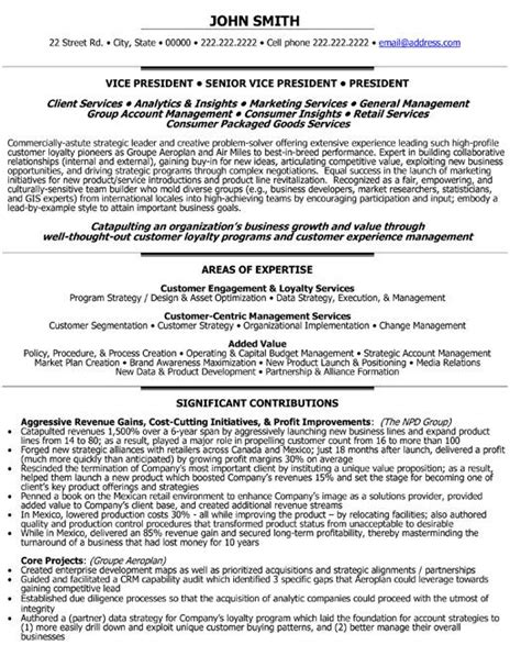 Resume Vice President Customer Service Click Here To This Senior Vice President Loyalty Resume Template Http Www