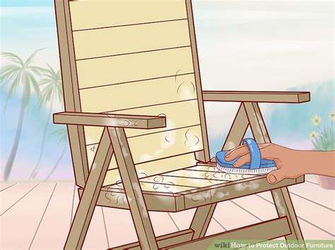 How To Protect Outdoor Furniture With Pictures Wikihow Protecting Outdoor Furniture