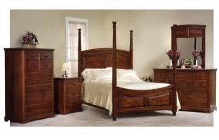 amish bedroom furniture sets amish bedroom set with 4 poster bed in rustic cherry wood