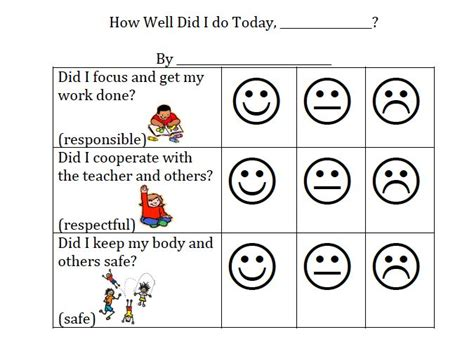 student behavior self reflection 15 best self monitoring sheets for students images on
