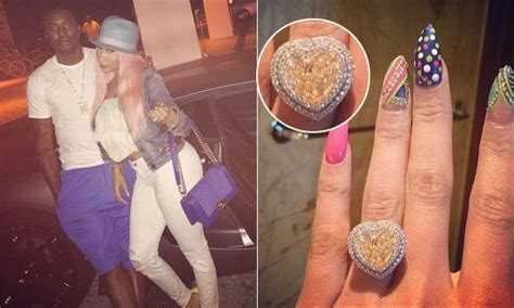 nicki minaj shows off another massive diamond ring from iggy azalea is engaged to nick young watch the proposal