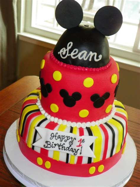 mickey mouse birthday cake cake pictures