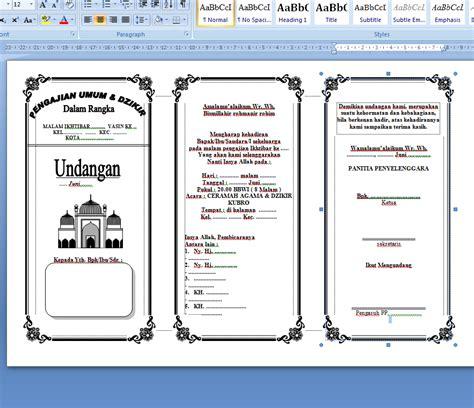 template undangan walimatul ursy word koleksi undangan format word markas dunia maya