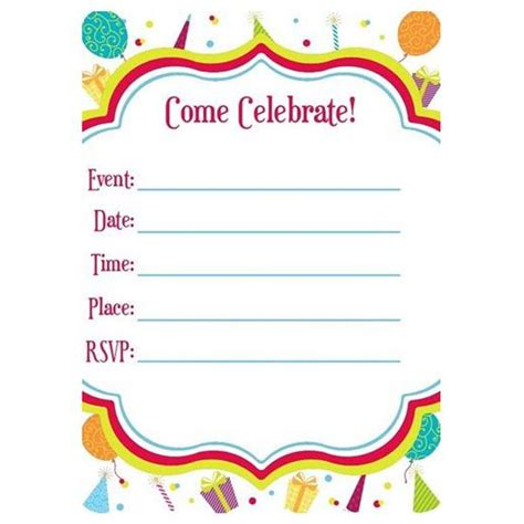happy birthday card templates you fill in blank blank fill in invitations happy birthday hats and balloons