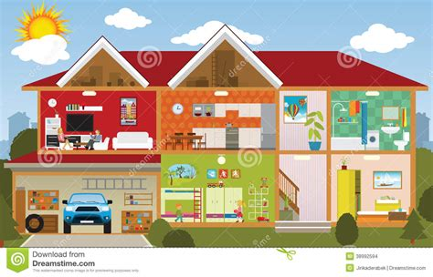 Painting Homes Interior by Inside The House Stock Vector Image 38992594