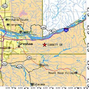 corbett oregon map corbett oregon or population data races housing