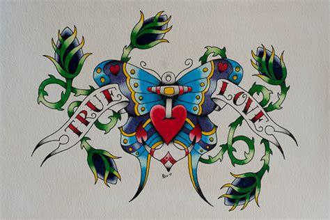 tattoo flash watercolor true love watercolor tattoo flash on wacom gallery