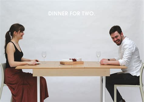 table for two doubles as a workstation for two and dining