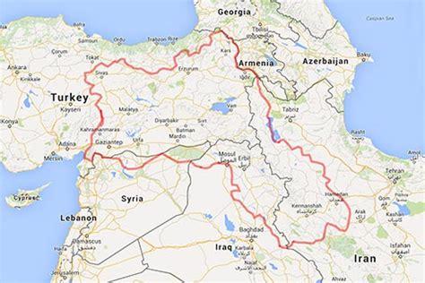 kurdistan map map of kurdistan gulan