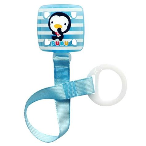puku baby soother pacifier chain clip blue p11114 feeding