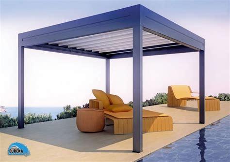 freestanding aluminium pergola sliding canvas cover