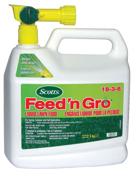 scotts scotts feed n gro liquid lawn food the home