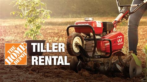 tiller rental the home depot