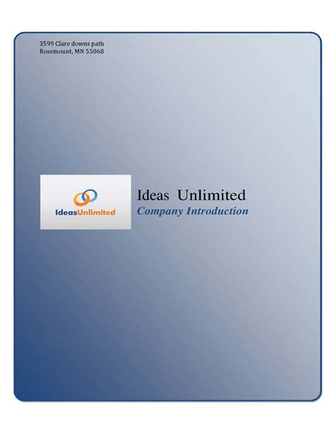 ideas unlimited ideas unlimited company introduction pdf authorstream