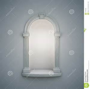 Pedestal Shelves Classical Wall Niche Royalty Free Stock Photos Image