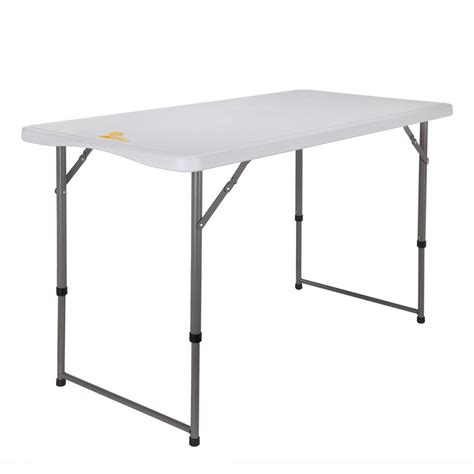 adjustable height folding table palm springs portable 4ft adjustable height plastic