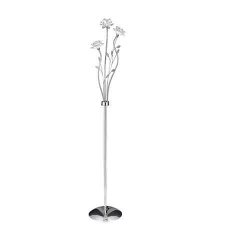 len kristall pendelleuchten searchlight stehleuchte bellis aus chrom mit floralen