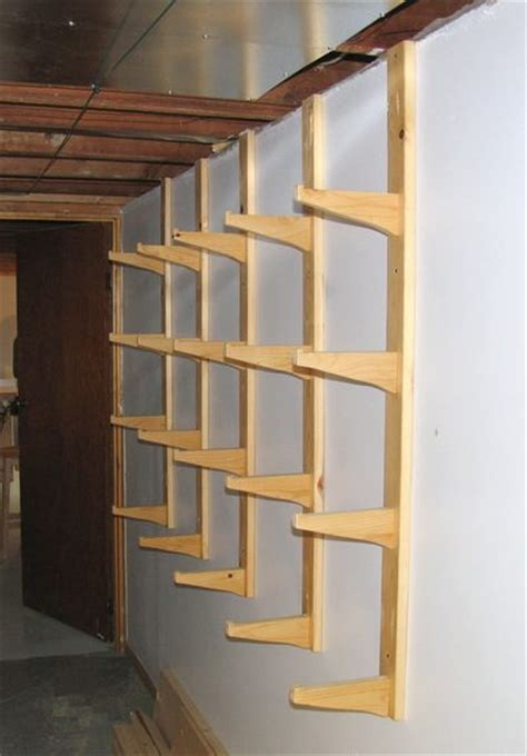 Wood Storage Rack Design by Building A Lumber Rack