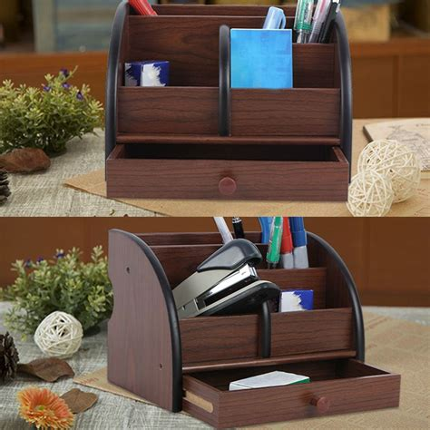 Garden Desk Accessories Wooden Office Desk Organizer Multi Functional Home Office