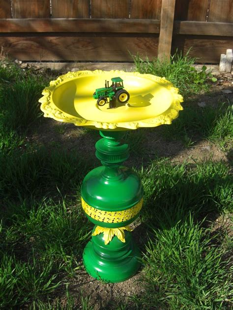 backyard bird baths one of a kind john deere birdbath or birdfeeder