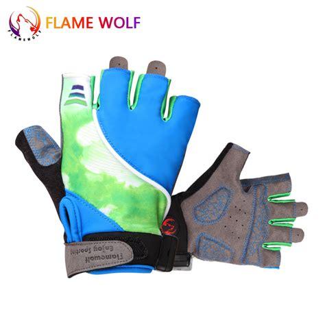 Sarung Tangan Elektrik sarung tangan half finger sepeda dengan lu led mix