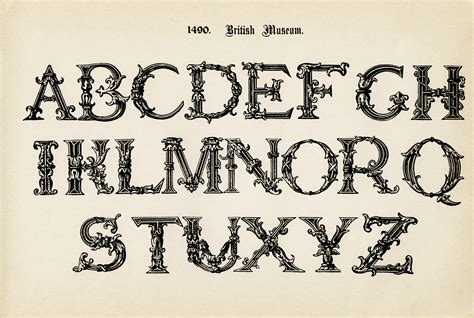design online letters british museum vintage alphabet image old design shop blog