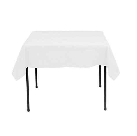 tablecloth on square table 90 108 inch square white square table polyester wedding