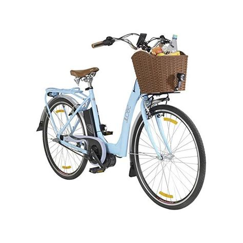 E Bike City by Neu Tiefeinsteiger City E Bike Llobe Blue Glider Mittelmotor