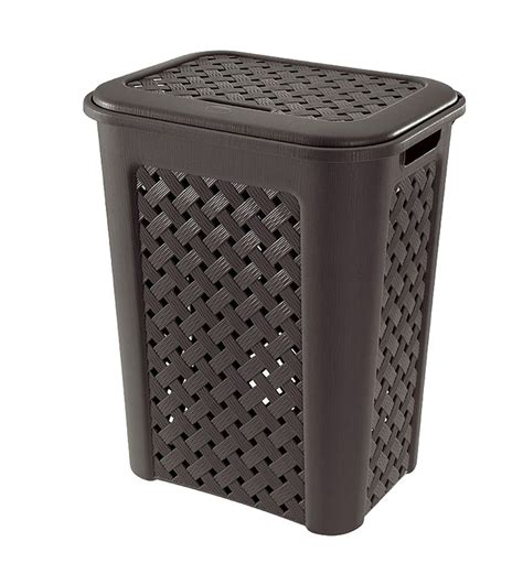 Tontarelli Arianna Big Laundry Her Basket With Lid Plastic Laundry With Lid