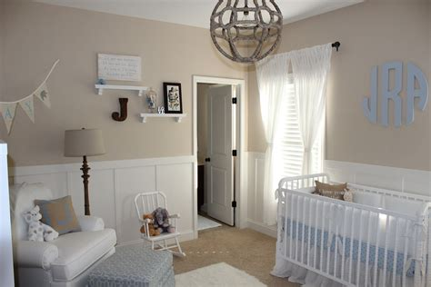 beige and white neutral nursery for baby boy project nursery