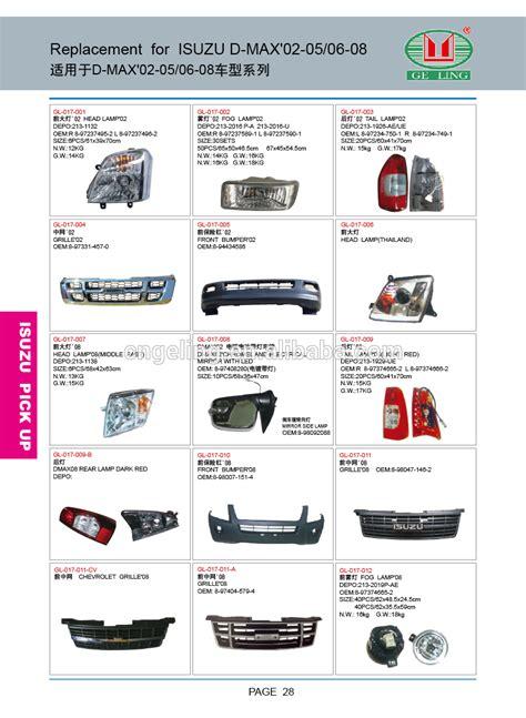 car name parts car parts name for isuzu dmax door buy car parts