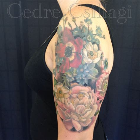 vintage flower tattoos the gallery for gt vintage flower shoulder tattoos
