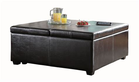 leather lift top ottoman 36 top brown leather ottoman coffee