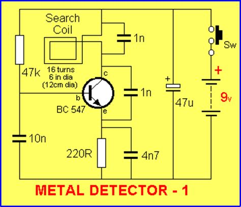 talking electronics inductor metal detector circuit using inductor 28 images electronics circuits diagrams make your idea