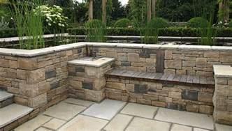 Designer Patio Patio Design And Natural Stone Walling Landscape Garden