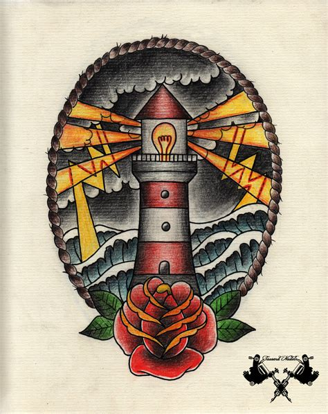 new school lighthouse tattoo tattoo flash lighthouse 02 by tausend nadeln on deviantart