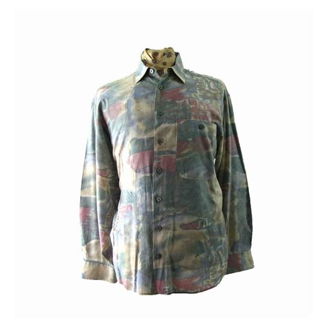 80s abstract pattern shirt 80s abstract patterned shirt l blue 17 vintage fashion