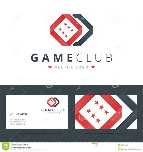 card with logo template cube logo with business card template vector vector