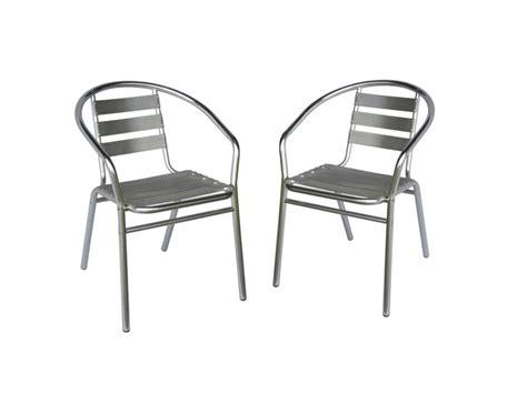 chaise de jardin aluminium lot de 2 chaises de jardin en aluminium montmartre
