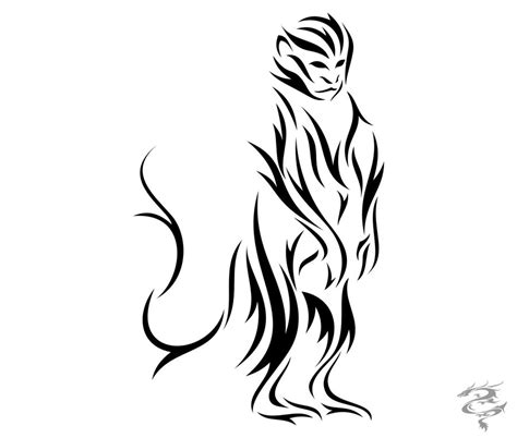chinese zodiac tiger tattoo designs zodiac monkey by visuallyours on deviantart