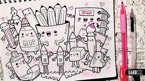doodle ideas for school kawaii school supplies hello doodles easy and kawaii