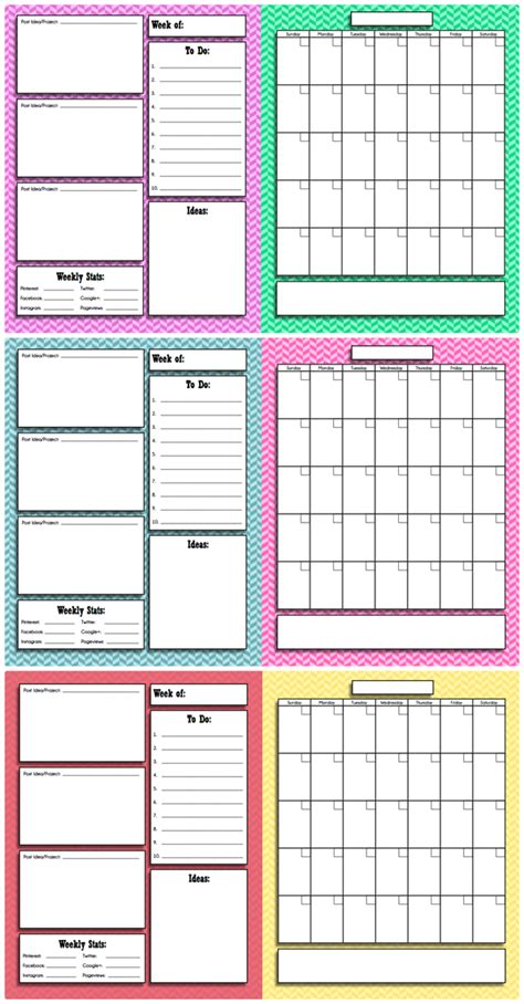 printable planner template 6 best images of password organizer free printables a5