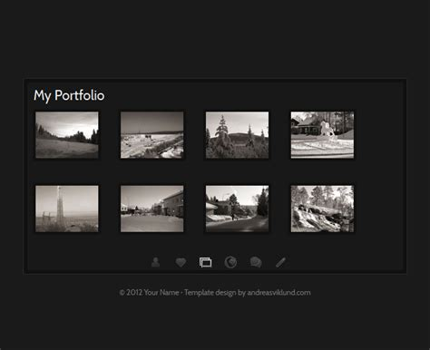 photo gallery templates this is me html css template screenshot 2
