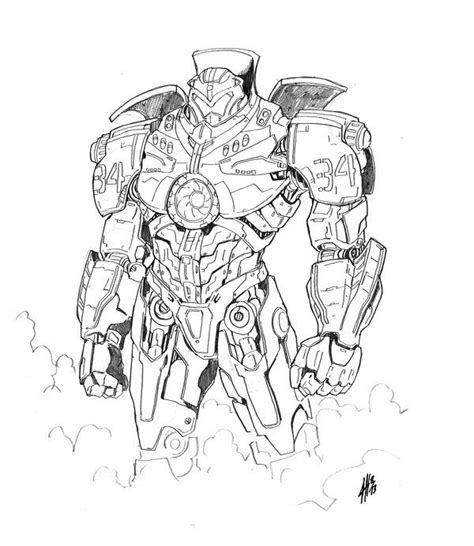 kaiju pacific rim coloring pages