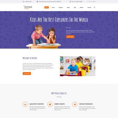 Kids Childern Templates Templatemonster Child Care Website Template