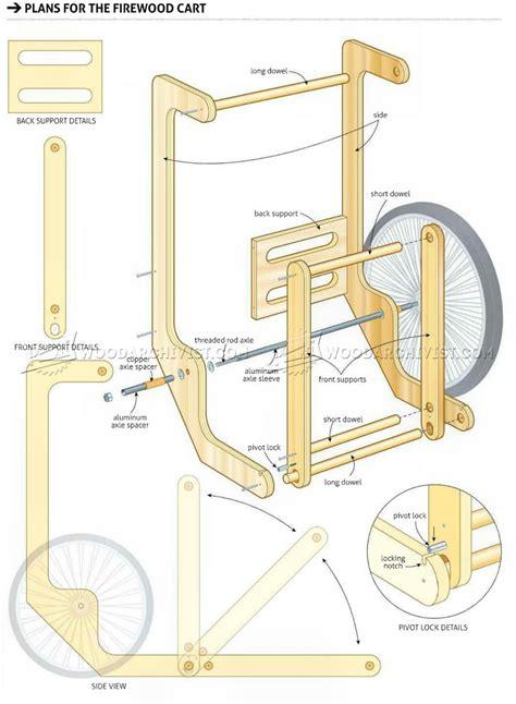 design blueprints firewood cart plans woodarchivist